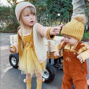 Wild Wawa Mustard Tutu Rainbow Tulle Dress Size 2T